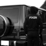 FIXER (フィクサー) FPK-01(エフピーケー01) Zip Up Hoodie ジップアップフーディー(バックプリント) BLACK (ブラック) 【SOLD OUT】のイメージ