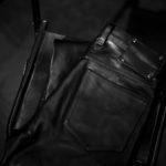 ISAMU KATAYAMA BACKLASH 1973-01 MARYAM HORSE LEATHER PANTS BLACK 2022SS 【ご予約受付中】のイメージ