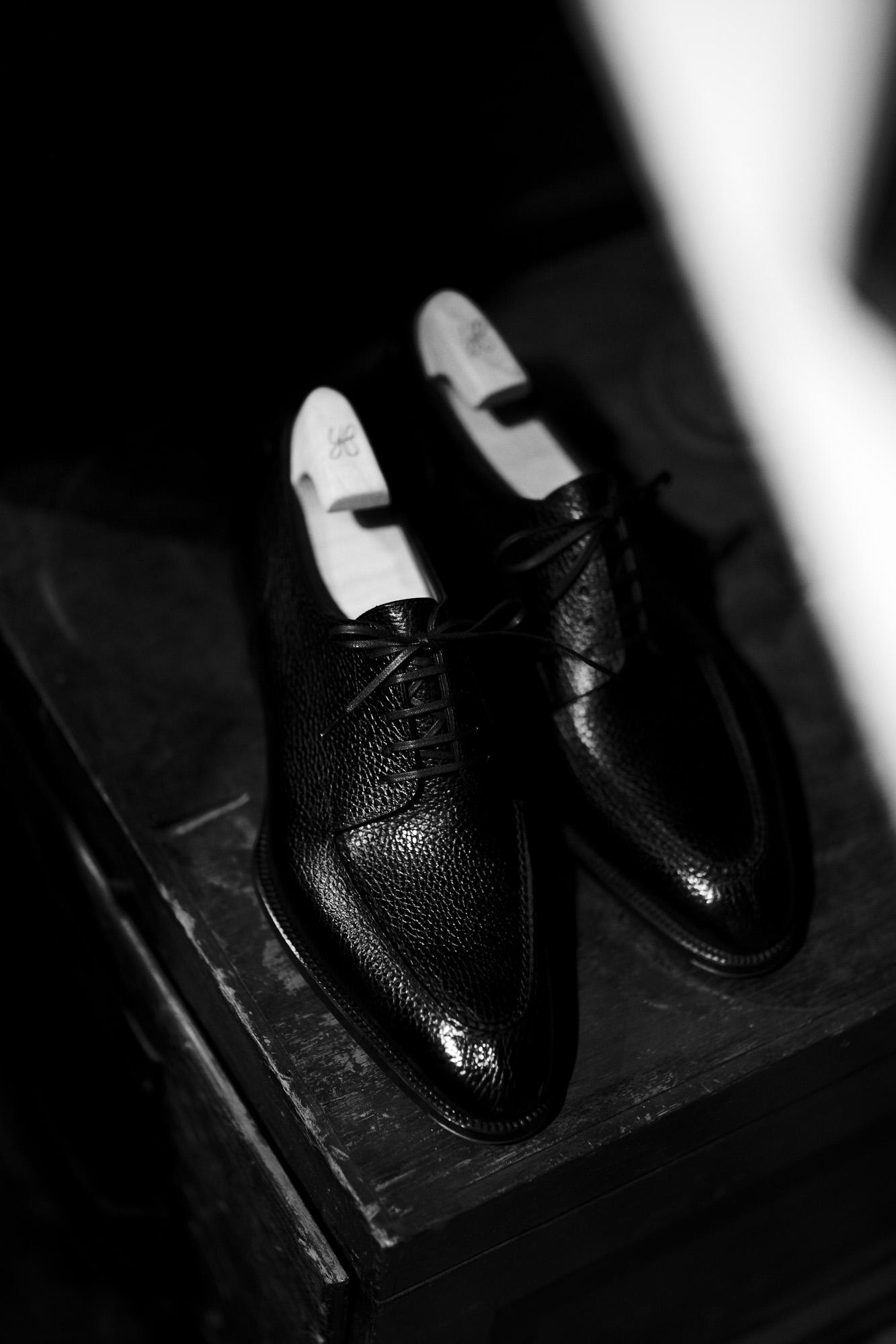 "Yohei Fukuda ""MTO"" Split Toe Derby Shoes Black Big Grain 2021 ヨウヘイフクダ スプリットトゥーダービーシューズ ドレスシューズ 愛知 名古屋 Alto e Diritto altoediritto アルトエデリット Half Rubber Round Toe High Shine シューツリー"