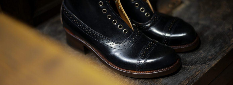 JULIAN BOOTS (ジュリアンブーツ) 【Jeweler / ジュエラー】 Horween ホーウィン社 Shell Cordovan Leather シェルコードバンレザー Dワイズ レザーブーツ ドレスブーツ BLACK (ブラック) Made in USA (アメリカ製) 2017 秋冬新作